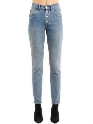 Balenciaga HIGH RISE TUBE STONE WASH 牛仔裤