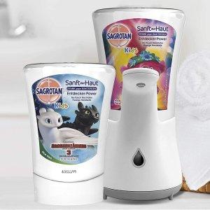 洗手机+洗手液€12.21起惊喜补货:Sagrotan 免触碰洗手机与替换装洗手液热卖 避免二次传播
