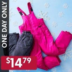 全部$14.79限今天:儿童滑雪裤一日特卖 冬季玩雪必备
