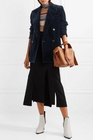 Acne Studios | Double-breasted cotton-velvet blazer  | NET-A-PORTER.COM