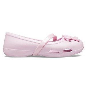 CrocsLina 女童蝴蝶结平底鞋