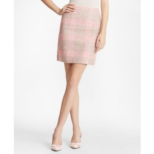 Checked Boucle Skirt - Brooks Brothers