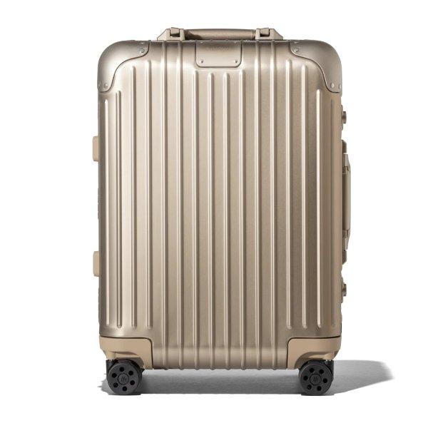 Original Cabin Aluminum Carry-On Suitcase | Titanium | RIMOWA