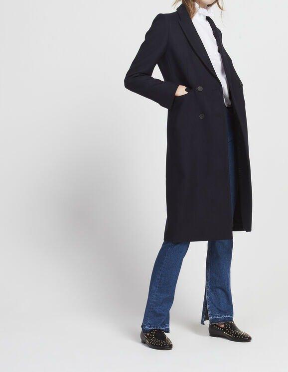 双排扣大衣