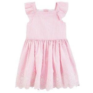 低至3折+满$40额外8折Carter's 新款女童连衣裙特卖,封面款低至$10