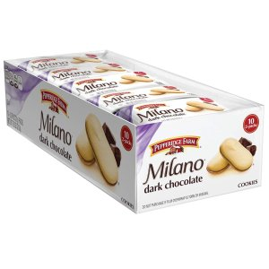$4.48Pepperidge Farm Milano Cookies, Dark Chocolate, 2 Count, Pack of 10