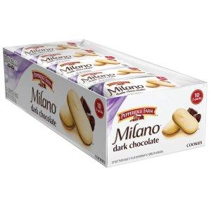 Pepperidge Farm Milano 黑巧克力饼干 10包
