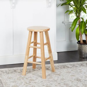 $17.96Mainstays 天然实木吧台椅 24