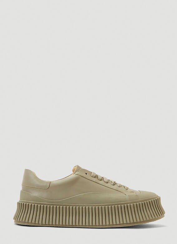 绿色厚底鞋