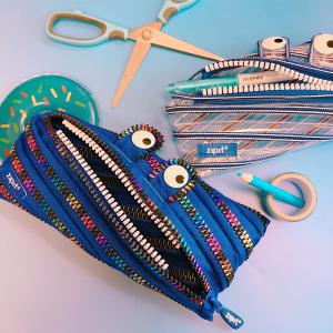 €7.99就收经典纯色ZIPIT 日本小怪兽拉链笔袋 可以跳绳的笔袋 创意文具 可可爱爱