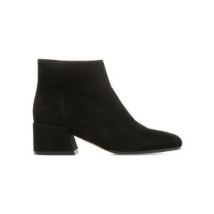 VinceOstend Pewter Suede Booties