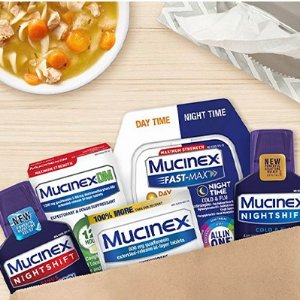 Sore Throat Relief $6.93Mucinex OTC Cough and Chest Congestion Relief Tablets Doctors Recommendation