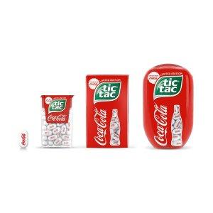薄荷风味可乐糖印上迷你Logo好萌Tic Tac重磅联名可口可乐