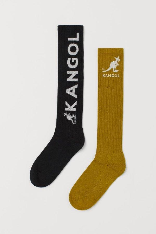 长款logo袜 两双装