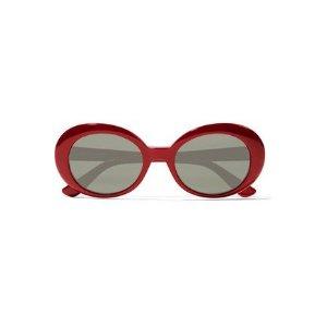 Saint LaurentRound-frame acetate sunglasses