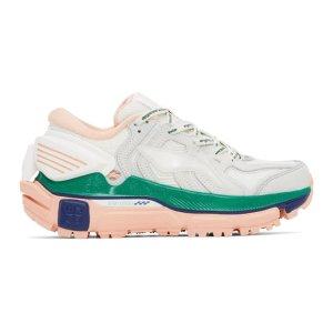 LI-NING白绿粉厚底鞋