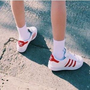 AdidasSuperstar 红杠贝壳头