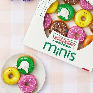 限时供应 + 可选送上门服务Krispy Kreme 春季主题迷你甜甜圈开售