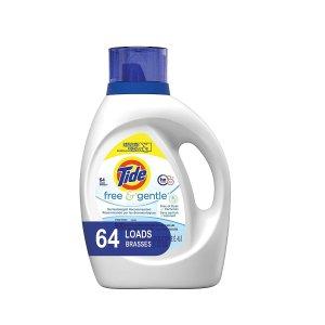 买两瓶减$5 一瓶仅$9.47Tide 洗衣液超大瓶 100oz装