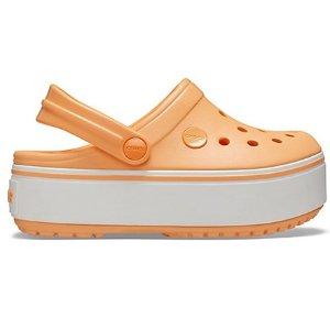 Crocs新色哟~Crocband™ 女大童厚底洞洞鞋