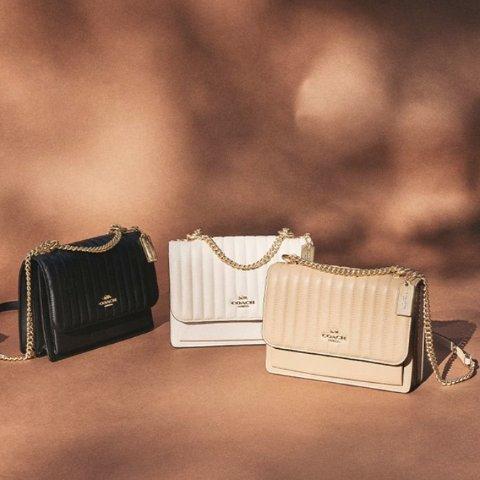 低至3折 + 额外9折独家:COACH Outlet 绗缝系列包袋热卖 卡包$26