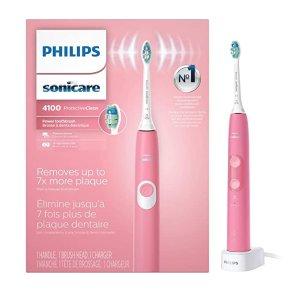 Philips4100 温和清洁电动牙刷 粉色