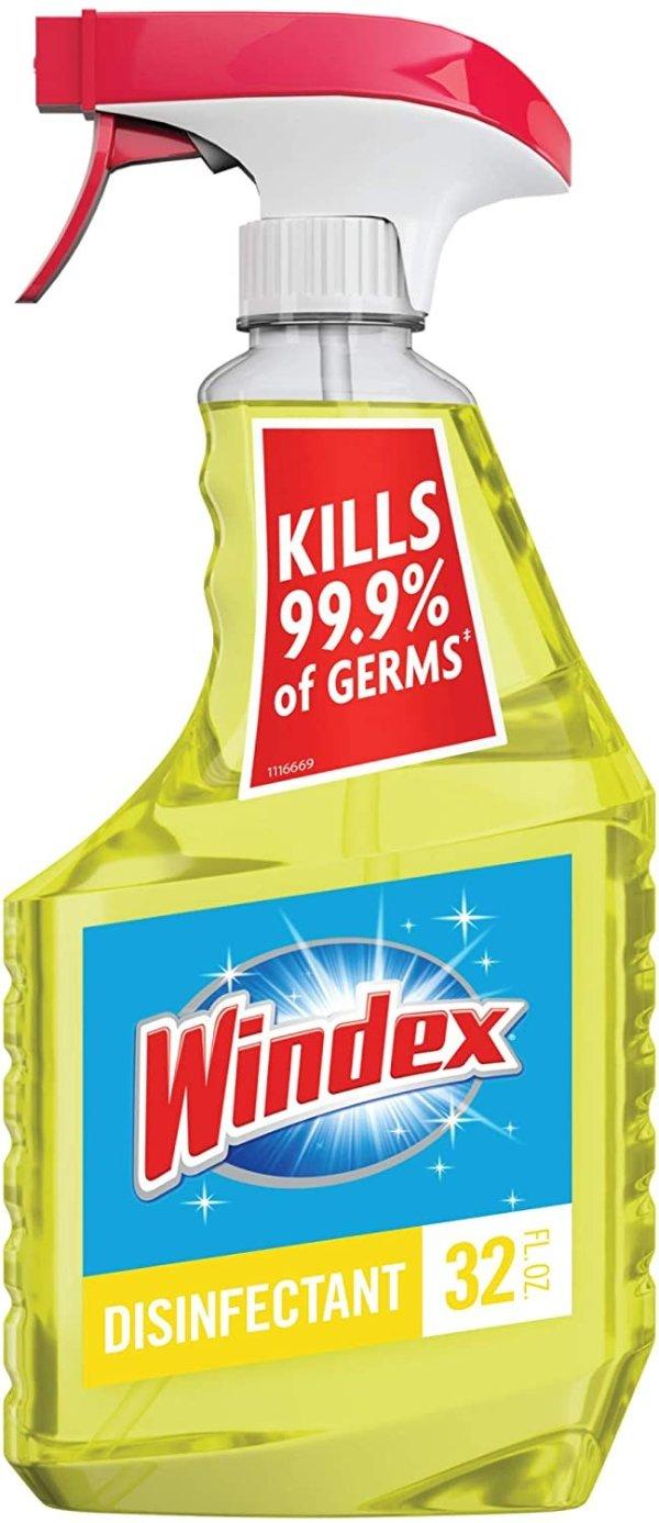 Windex 居家必备消毒杀菌喷雾,大瓶32盎司