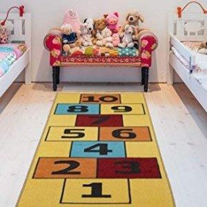$21.53(原价$30.75)史低价:Ottomanson 儿童房趣味数字地垫,防滑耐磨