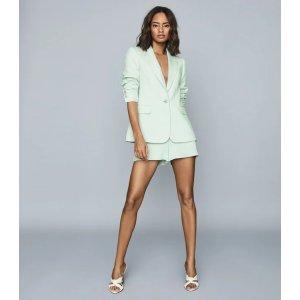 ReissLana Green Textured Tailored Shorts – REISS