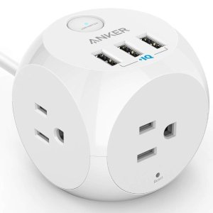 Anker PowerPort Cube USB Power Strip with 3 Outlets and 3 USB Ports