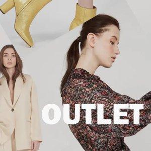 低至3折 €34收星星小白鞋Place des Tendances outlet区更多新品加入 收Sandro、Maje