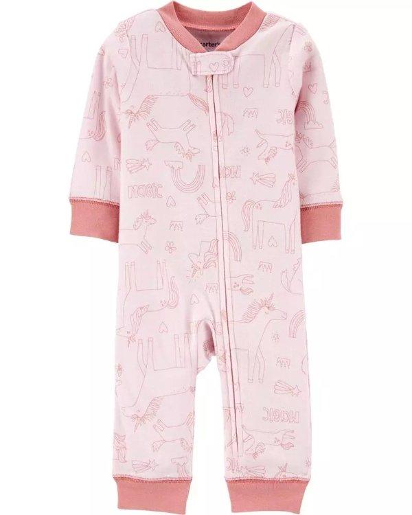 婴儿 独角兽图案连体衣