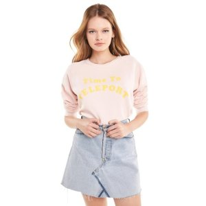 Time To Teleport Junior Sweatshirt   Pink Flush