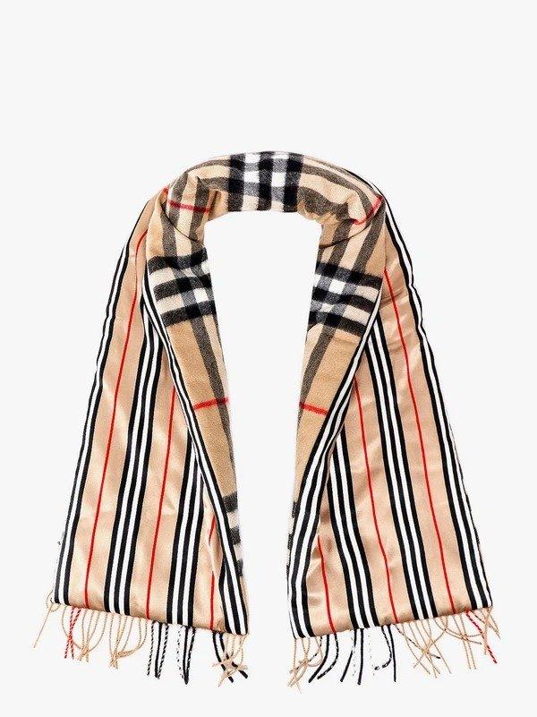 格纹双面围巾