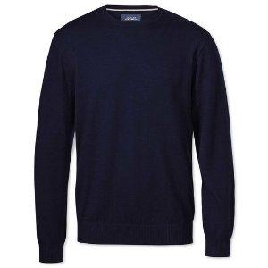 Charles Tyrwhitt 蓝色毛衣
