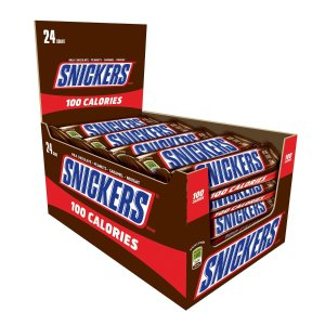 $18.94SNICKERS 100 Calories Chocolate Candy Bar 0.76-Ounce Bar 24-Count Box