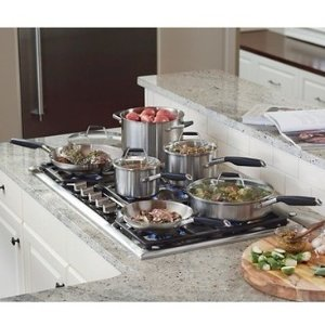 Select By Calphalon Stainless Steel 12-Piece Cookware Set @ Calphalon