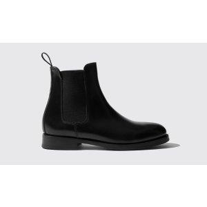 满€400减€120黑色切尔西靴