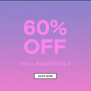 60% OffNasty Gal Fall Essentials Sale