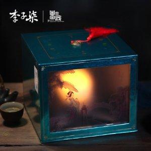 李子柒×国家宝藏联名款纸影观花月饼礼盒