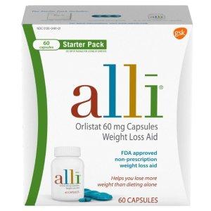 120粒$53.84alli Diet Pills 排油控脂减肥药 FDA认证