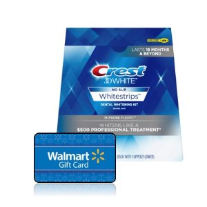 Walmart Crest 3d Whitestrips Vivid White Teeth Whitening Kit Pack Of 2 24 Treatments Dealmoon