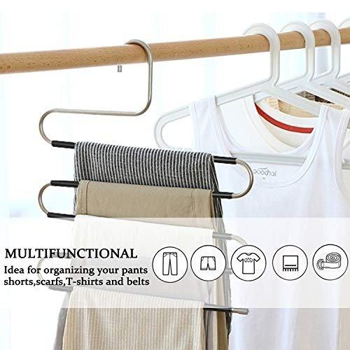 悬挂式裤子收纳 升级版防滑落设计 5个