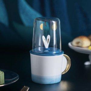 限时抢购价¥89拾月套杯组合 倒扣玻璃杯 中层杯盖搅拌勺