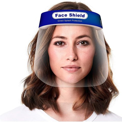 $14.14Face Shield 5-Pack, Reusable Transparent Anti-Fog Visor Full Face Safety Cover with Comfort Foam