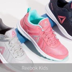 低至$15.98Reebok 儿童跑鞋特价热卖 真皮制作,透气舒适