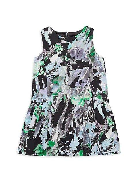 女童印花裙,尺码:2-7