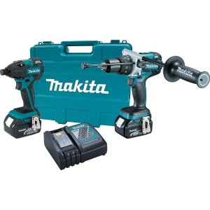 Makita 18-Volt LXT Lithium-Ion Brushless Cordless Hammer Drill/Impact Driver Combo Kit (2-Piece) with (2) 4.0Ah Batteries, Case