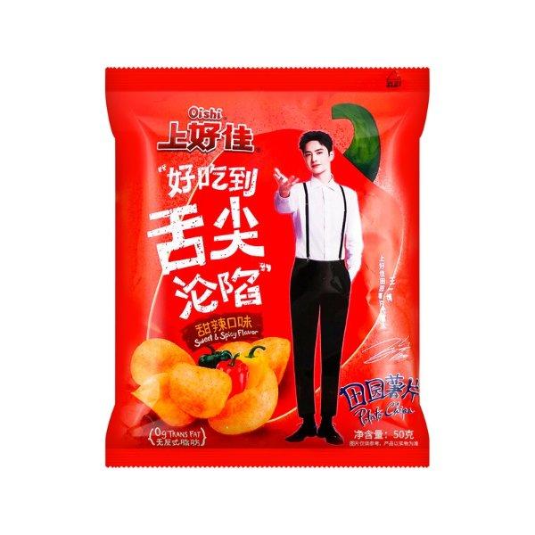 OISHI上好佳 田园薯片 甜辣口味 50g