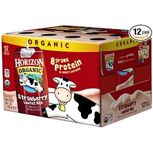 $8.99Horizon Organic Low Fat Organic Milk Box, Strawberry, 8 Ounce (Pack of 12)
